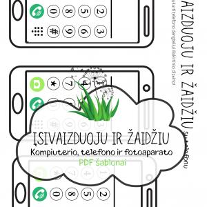 pdf šablonas atsisiųsti TELEFONAS vaikams | Idėjų Paštas