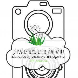 pdf šablonas atsisiųsti FOTOAPARATAS vaikams | Idėjų Paštas